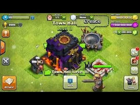 Hack Clash of clans 2015 v7.1.1 (Ultimited Gems)
