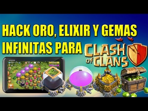 Hack Mod Clash Of Clans: Oro, Elixir y Gemas Infinitas || 2015 || No Root || Offline - Server